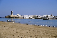 Sur, Oman, Arabian Peninsula, Middle East - Port Entrance.  This port was important in the Omani trade with East Africa.