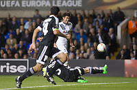 Son Heung-Min of Tottenham Hotspur hits a shot at goal during the UEFA Europa League match between Tottenham Hotspur and Qarabag FK at White Hart Lane, London, England on 17 September 2015. Photo by Andy Rowland.