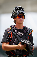 GCL Orioles catcher Matt Beaird (24) during a game against the GCL Red Sox on August 9, 2018 at JetBlue Park in Fort Myers, Florida.  GCL Red Sox defeated GCL Orioles 10-4.  (Mike Janes/Four Seam Images)