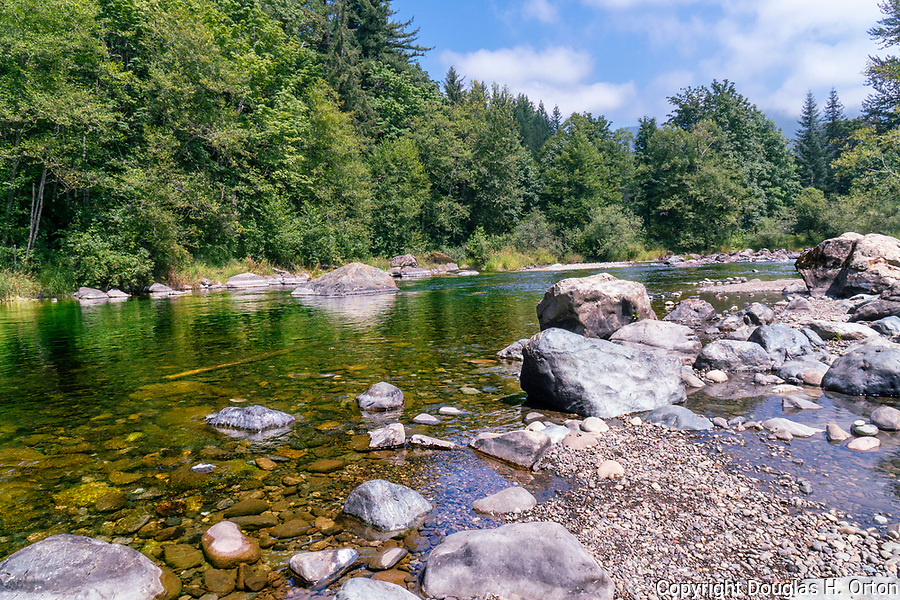 Washington State's Green River at Kanaskat-Palmer State Park just above famous Green Riverr Gorge whitewater.