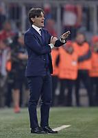 11.04.2018, Muenchen: Quarter Finals 2nd leg - FC Bayern Muenchen - FC Sevilla<br /><br />Trainer Vincenzo Montella  (FC Sevilla)<br /> *** Local Caption *** © pixathlon<br /> Contact: +49-40-22 63 02 60 , info@pixathlon.de
