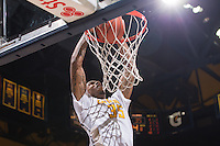 California Richard Solomon dunks the ball during a game against Colorado at Haas Pavilion in Berkeley, California on March 8th, 2014. California defeated Colorado 66 - 65