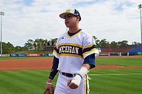 Michigan Wolverines Hector Gutierrez (24) before the first game of a doubleheader against the Canisius College Golden Griffins on June 20, 2016 at Tradition Field in St. Lucie, Florida.  Michigan defeated Canisius 6-2.  (Mike Janes/Four Seam Images)