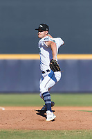 Peoria Javelinas relief pitcher Matt Walker (31), of the Seattle Mariners organization, delivers a pitch during an Arizona Fall League game against the Scottsdale Scorpions at Peoria Sports Complex on October 18, 2018 in Peoria, Arizona. Scottsdale defeated Peoria 8-0. (Zachary Lucy/Four Seam Images)