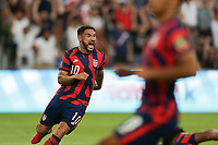 AUSTIN, TX - JULY 29: Cristian Roldan #10 of the United States reacts during a game between Qatar and USMNT at Q2 Stadium on July 29, 2021 in Austin, Texas.
