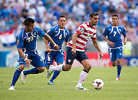 Chris Wondolowski, Mardoqueo Henriquez Dubon.  The United States defeated El Salvador, 5-1, during the quarterfinals of the CONCACAF Gold Cup at M&T Bank Stadium in Baltimore, MD.