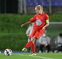 Woluwe's Jana Simons (8) gives a pass during a female soccer game between FC Femina WS Woluwe and Standard Femina de Liege on the fourth match day of the 2020 - 2021 season of Belgian Womens Super League , Friday 8th of October 2020  in Liege , Belgium . PHOTO SPORTPIX.BE | SPP | SEVIL OKTEM
