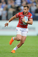 Henry Trinder of Gloucester Rugby in action during the Gallagher Premiership Rugby match between Bath Rugby and Gloucester Rugby at The Recreation Ground on Saturday 8th September 2018 (Photo by Rob Munro/Stewart Communications)