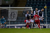 19th December 2020; Dens Park, Dundee, Scotland; Scottish Championship Football, Dundee FC versus Dunfermline; Declan McManus of Dunfermline Athletic scores an equaliser with the last kick of the ball in the 95th minute to level the score at 3-3