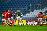 David Moran, Kerry in action against Ian MaGuire, Cork, during the Munster GAA Football Senior Championship Semi-Final match between Cork and Kerry at Páirc Uí Chaoimh in Cork.