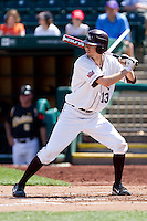 Kevin Medrano (13) of the Missouri State Bears at bat during a game against the Wichita State Shockers on April 9, 2011 at Hammons Field in Springfield, Missouri.  Photo By David Welker/Four Seam Images