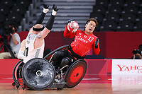 26th August 2021; Tokyo, Japan; Shinichi Shimakawa (JPN), <br />  WheelChair Rugby : Pool Phase Group A match <br /> between Japan 60-51 Denmark <br /> during the Tokyo 2020 Paralympic Games at the Yoyogi National Gymnasium in Tokyo, Japan.