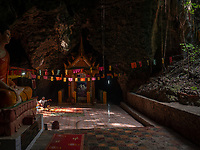 The killing caves of Phnom Sampeau are a Khmer Rouge execution site on Phnom Sampeau, a hill 7 mi (11 km) southwest of Battambang in western Cambodia. The Khmer Rouge killed their victims on top of the cave at the rim of a daylight shaft or ceiling hole and then threw the dead body into the cave. Men and women were placed in separate caves and clothes in another.<br />