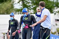 CASSIGNOL Oceane, GRANGEON Lara, FONTAINE Logan, OLIVIER Marc-Antoine FRA<br /> Team Event 5 km<br /> Open Water<br /> Budapest  - Hungary  15/5/2021<br /> Lupa Lake<br /> XXXV LEN European Aquatic Championships<br /> Photo Andrea Staccioli / Deepbluemedia / Insidefoto
