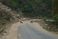 Trongsa to Thimphu, Bhutan..Also along the road Rock slide,