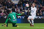 Real Madrid Gareth Bale and Fuenlabrada Jordi Codina during return match of King's Cup between Real Madrid and Fuenlabrada at Santiago Burnabeu Stadium in Madrid, Spain. November 28, 2017. (ALTERPHOTOS/Borja B.Hojas)