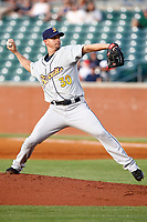 Montgomery Biscuits pitcher J.D. Martin (30) delivers a pitch to the plate on May 23, 2018 at AT&T Field in Chattanooga, Tennessee. (Andy Mitchell/Four Seam Images)