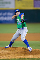Lexington Legends relief pitcher Jake Newberry (40) in action against the Hickory Crawdads at L.P. Frans Stadium on April 29, 2016 in Hickory, North Carolina.  The Crawdads defeated the Legends 6-2.  (Brian Westerholt/Four Seam Images)