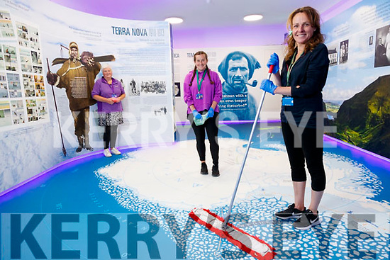 Pictured getting ready to reopen Kerry County Museum which opens on Thursday 2nd July are Triona Houlihan Gemma O'Connell and Sandra Leahy.
