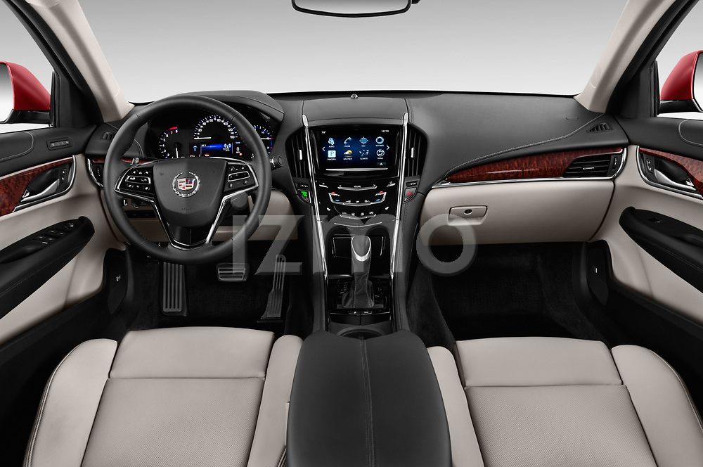 Stock photo of straight dashboard view of a 2015 Cadillac ATS 2.5L Standard RWD 4 Door Sedan Dashboard
