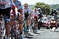 White Jersey Wout Van Aert (BEL/Jumbo Visma) in the peloton up the cote de Rosière. <br /> <br /> Stage 4: Reims to Nancy (215km)<br /> 106th Tour de France 2019 (2.UWT)<br /> <br /> ©kramon