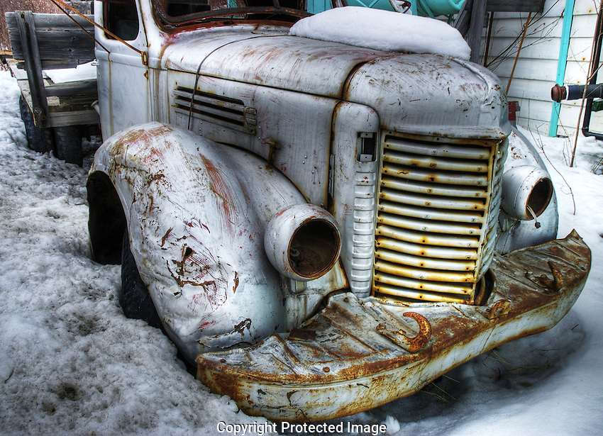 Old truck in Yellowknife