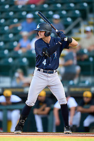 Tampa Tarpons Trey Sweeney (4) bats during Game Two of the Low-A Southeast Championship Series against the Bradenton Marauders on September 22, 2021 at LECOM Park in Bradenton, Florida.  (Mike Janes/Four Seam Images)