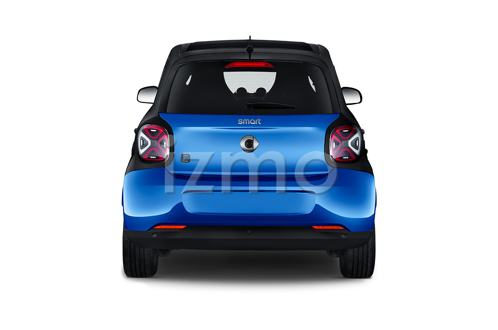 Straight rear view of 2020 Smart EQ-forfour Comfort-Plus 5 Door Hatchback Rear View  stock images