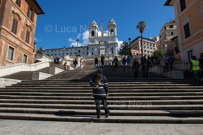 """Prologue: Rome - Spanish Steps, 08/03/2020. <br /> <br /> Rome, 12/03/2020. Documenting Rome under the Italian Government lockdown for the Outbreak of the Coronavirus (SARS-CoV-2 - COVID-19) in Italy. On the evening of the 11 March 2020, the Italian Prime Minister, Giuseppe Conte, signed the March 11th Decree Law """"Step 4 Consolidation of 1 single Protection Zone for the entire national territory"""" (1.). The further urgent measures were taken """"in order to counter and contain the spread of the COVID-19 virus"""" on the same day when the WHO (World Health Organization, OMS in Italian) declared the coronavirus COVID-19 as a pandemic (2.).<br /> ISTAT (Italian Institute of Statistics) estimates that in Italy there are 50,724 homeless people. In Rome, around 20,000 people in fragile condition have asked for support. Moreover, there are 40,000 people who live in a state of housing emergency in Rome's municipality.<br /> March 11th Decree Law (1.): «[…] Retail commercial activities are suspended, with the exception of the food and basic necessities activities […] Newsagents, tobacconists, pharmacies and parapharmacies remain open. In any case, the interpersonal safety distance of one meter must be guaranteed. The activities of catering services (including bars, pubs, restaurants, ice cream shops, patisseries) are suspended […] Banking, financial and insurance services as well as the agricultural, livestock and agri-food processing sector, including the supply chains that supply goods and services, are guaranteed, […] The President of the Region can arrange the programming of the service provided by local public transport companies […]».<br /> Updates: on the 12.03.20 (6:00PM) in Italy there 14.955 positive cases; 1,439 patients have recovered; 1,266 died.<br /> <br /> Footnotes & Links:<br /> Info about COVID-19 in Italy: http://bit.do/fzRVu (ITA) - http://bit.do/fzRV5 (ENG)<br /> 1. March 11th Decree Law http://bit.do/fzREX (ITA) - http://bit.do/fzRFz (ENG)<br /> 2. http://bit"""