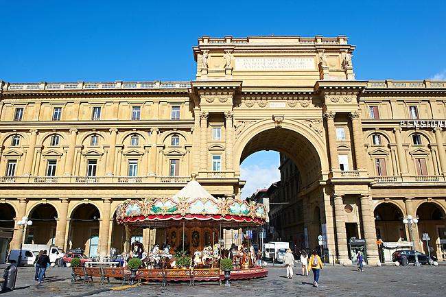 Piazza della Repubblica, Florence, Italy