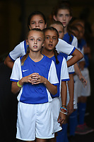 Carson, CA - Thursday August 03, 2017: Escort kids during a 2017 Tournament of Nations match between the women's national teams of the United States (USA) and Japan (JPN) at the StubHub Center.