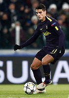 Football Soccer: UEFA Champions League Juventus vs Tottenahm Hotspurs FC Round of 16 1st leg, Allianz Stadium. Turin, Italy, February 13, 2018. <br /> Tottenham's Erilk Lamela in action during the Uefa Champions League football soccer match between Juventus and Tottenahm Hotspurs FC at Allianz Stadium in Turin, February 13, 2018.<br /> UPDATE IMAGES PRESS/Isabella Bonotto
