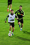 Spanish National Team's  training at Ciudad del Futbol stadium in Las Rozas, Madrid, Spain. In the pic: Carvajal and Isco. March 25, 2015. (ALTERPHOTOS/Luis Fernandez)