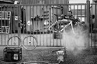 post-race wash<br /> <br /> Koppenbergcross / Belgium 2017