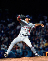 Jeff Fassero of the Montreal Expos during a 1995 season game at Dodger Stadium in Los Angeles,California.(Larry Goren/Four Seam Images)