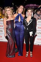 Zoe Hardman, Natalie Pinkham and Pips Taylor<br /> arriving for the National TV Awards 2019 at the O2 Arena, London<br /> <br /> ©Ash Knotek  D3473  22/01/2019