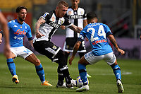 Dries Mertens of SSC Napoli , Juraj Kucka of Parma Calcio 1913 and Lorenzo Insigne of SSC Napoli compete for the ball during the Serie A football match between Parma Calcio 1913 and SSC Napoli at Ennio Tardini stadium in Parma (Italy), September 20th, 2020. Photo Andrea Staccioli / Insidefoto
