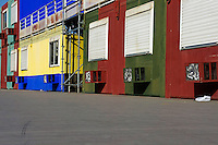 Multicoloured facades with air-conditioners