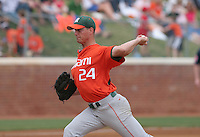 Scott Maine of the Miami Hurricanes vs. the Virginia Cavaliers: March 24th, 2007 at Davenport Field in Charlottesville, VA.  Photo by:  Mike Janes/Four Seam Images