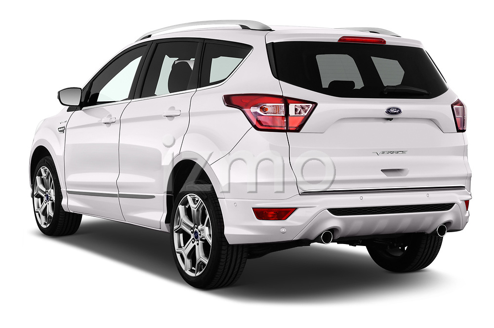 Car pictures of rear three quarter view of a 2017 Ford Kuga Vignale 5 Door SUV angular rear