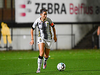 defender Noemie Fourdin of Sporting Charleroi pictured during a female soccer game between Sporting Charleroi and Club Brugge YLA on the fourth matchday of the 2020 - 2021 season of Belgian Scooore Womens Super League , friday 9 nd of October 2020  in Marcinelle , Belgium . PHOTO SPORTPIX.BE | SPP | DAVID CATRY