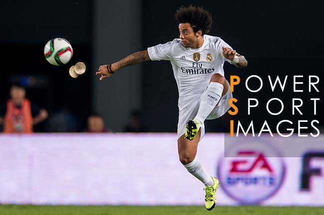 Marcelo of Real Madrid CF in action during the FC Internazionale Milano vs Real Madrid  as part of the International Champions Cup 2015 at the Tianhe Sports Centre on 27 July 2015 in Guangzhou, China. Photo by Aitor Alcalde / Power Sport Images
