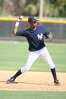 March 17th 2008:  Jose Mojica of the New York Yankees minor league system during Spring Training at Legends Field Complex in Tampa, FL.  Photo by:  Mike Janes/Four Seam Images