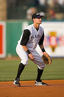 Louisville shortstop Paul Janish (17) on defense versus Indianapolis at Louisville Bats Field in Louisville, KY, Wednesday, August 8, 2007.