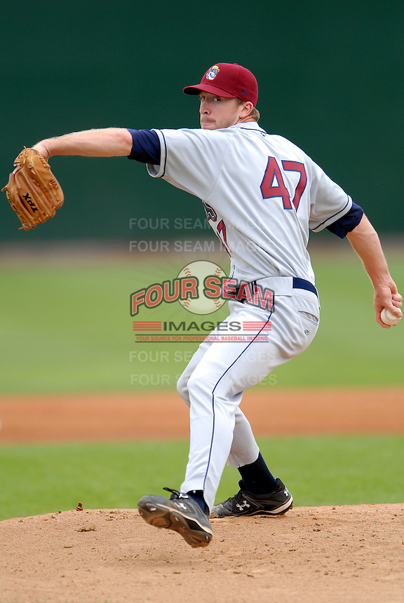 Mahoning Valley Scrappers' RHP COLE COOK   during a game vs. the Lowell Spinners at LaLacheur Park in Lowell, Massachusetts August 15, 2010.It was his debut as a professional after being selected in the fifth round of the 2010 MLB draft by the Cleveland Indians   Photo By Ken Babbitt/Four Seam Images