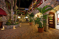 Evening in the Courtyard.Mongoos Junction.Cruz Bay, St John.U.S. Virgin Islands
