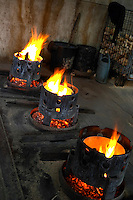 fires for toasting a barrel on the inside tonnellerie gillet st romain cote de beaune burgundy france