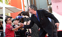 Tim Burton + Deep Roy @ hand and foot prints ceremony held @ the TCL Chinese theatre. September 8, 2016