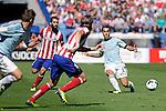 Atletico de Madrid´s and Celta de Vigo´s Hugo Mallo (R) during La Liga 2013/14 match. October 06, 2013. (ALTERPHOTOS/Victor Blanco)