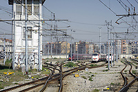- Milano, scalo ferroviario della Stazione Centrale, treni ETR Freccia Bianca e Italo in sosta<br /> <br /> - Milan, Central Station railway yard, ETR Freccia Bianca and Italo trains parked
